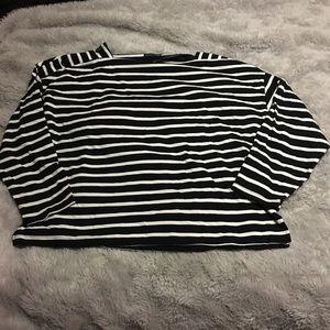 Zara Button Detail Stripe Top